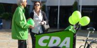 Demonstratie CDA'ers voor het klimaat